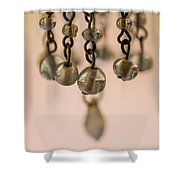 Hanging Beaded Votive Abstract 5 Shower Curtain