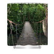 Hanging Bridge Shower Curtain