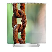 Hanging Chain Before Pastel Bokeh Shower Curtain