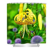 Hanging Lily Shower Curtain