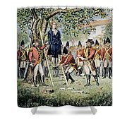 Hanging Of Nathan Hale Shower Curtain