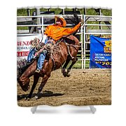 Hanging On For 8 Seconds Shower Curtain