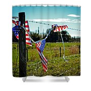 Hanging On - The American Spirit By William Patrick And Sharon Cummings Shower Curtain