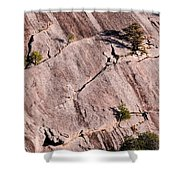 Hanging On To Dear Life - Enchanted Rock State Natural Area - Fredericksburg  Llano Shower Curtain