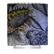 Hanging On To Life - Sunflower Shower Curtain