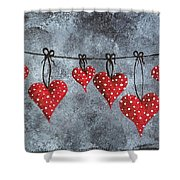 Hanging On To Love Shower Curtain