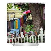 Hanging Out To Dry Shower Curtain