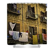 Hanging Out To Dry In Palermo  Shower Curtain