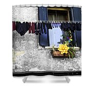 Hanging Out To Dry In Venice 2 Shower Curtain