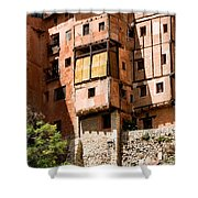 Hanging Red Houses Shower Curtain