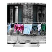 Hanging The Wash In Venice Italy Shower Curtain