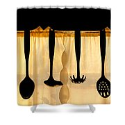 Hanging Utensils 2 Shower Curtain