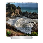 Hanging Waterfall In Big Sur Shower Curtain