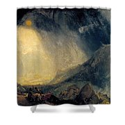 Hannibal And His Army Crossing The Alps Shower Curtain