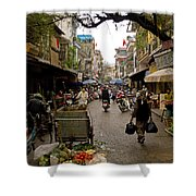Hanoi Street Market    Shower Curtain