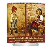Hansel And Gretel Brothers Grimm Shower Curtain