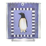 Hanukka Penguin Three Shower Curtain