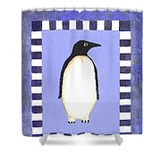 Hanukkah Penguin One Shower Curtain