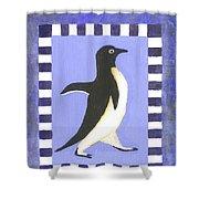 Hanukkah Penguin Two Shower Curtain
