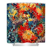 Happiness By Rafi Talby Shower Curtain