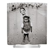 Happiness In India Shower Curtain