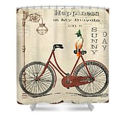 Happiness Is My Bicycle Shower Curtain