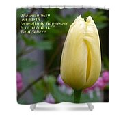 Happiness Tulip Shower Curtain