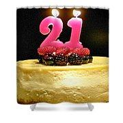 Happy 21st Birthday Shower Curtain