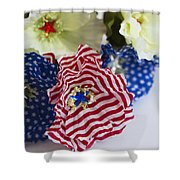 Happy 4th Of July America Shower Curtain