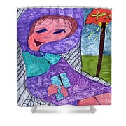 Happy And Content Shower Curtain