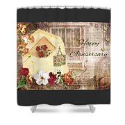 Happy Anniversary Mom And Dad Shower Curtain