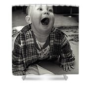 Happy Baby Shower Curtain