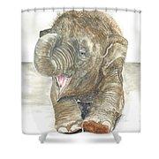Happy Baby Elephant Shower Curtain