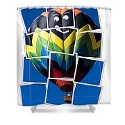 Happy Balloon Ride Shower Curtain