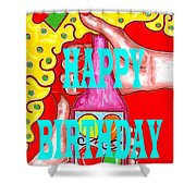 Happy Birthday 1 Shower Curtain by Patrick J Murphy