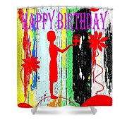 Happy Birthday 7 Shower Curtain by Patrick J Murphy