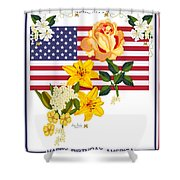 Happy Birthday America 2013 Shower Curtain by Anne Norskog