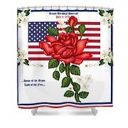 Happy Birthday America Shower Curtain by Anne Norskog