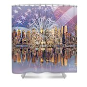Happy Birthday America Shower Curtain by Susan Candelario