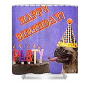 Happy Birthday Card Shower Curtain by Edward Fielding