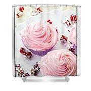 Happy Birthday Cupcakes Shower Curtain
