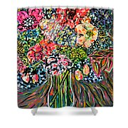 Happy Birthday Flowers Shower Curtain