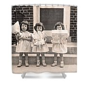 Happy Birthday Retro Photograph Shower Curtain