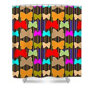 Happy Butterfly Dance Art For Kids Room  Daycare Playroom School Kindergarden Digital Graphic Signat Shower Curtain