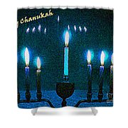 Happy Chanukah Shower Curtain