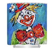 Happy Clown-ideal For Childrens Nurserys Shower Curtain