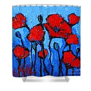 Happy Coquelicots Shower Curtain