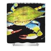 Happy Crab-3 Shower Curtain