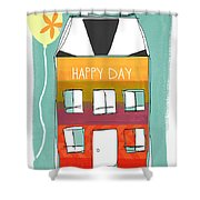 Happy Day Card Shower Curtain