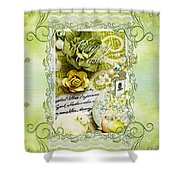 Happy Easter 3 Shower Curtain